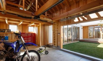 中庭のある家~光と風の通るガレージハウス~