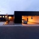 南浅田の家~大きな中庭のある家~の写真 外観-夕景