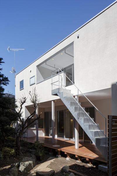 戸手本町の家 ー リノベーション (南側増築部分外観)