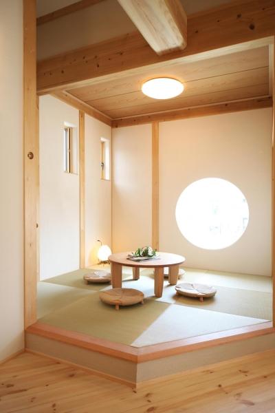 畳コーナー (金沢兼六の家 6LDK7人家族4層の家)