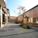南浅田の家~大きな中庭のある家~の写真 中庭