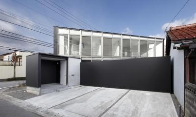 外観(撮影:加斗タカオ)|三角プランの家~斜め線で室内と室外に分かれる家~