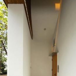 界川の家 (玄関-外(撮影:酒井広司))