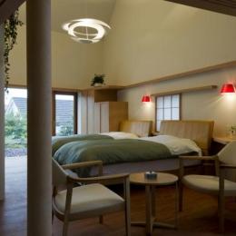 界川の家 (ベッドルーム1(撮影:古瀬桂))