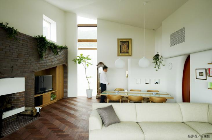 界川の家の写真 リビングダイニング2(撮影:古瀬桂)