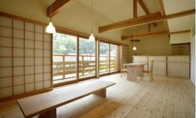 岩崎の二世帯住宅 (子世帯リビングダイニング1(撮影:EIICHI TAKAYAMA))