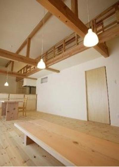 岩崎の二世帯住宅 (子世帯リビングダイニング2(撮影:EIICHI TAKAYAMA))
