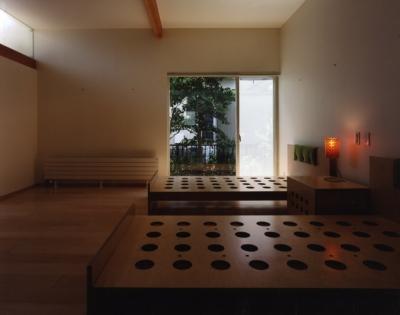 ベッドルーム (石神井の住宅 古稀庵)