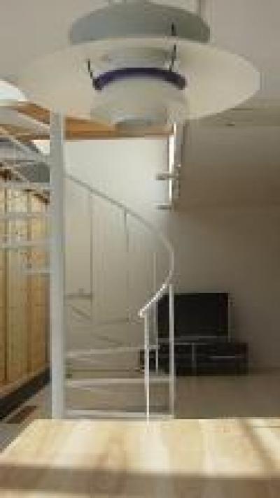 A-House (リビング内螺旋階段)