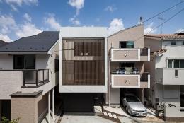 白糸台の家 (外観(撮影:平井広行))