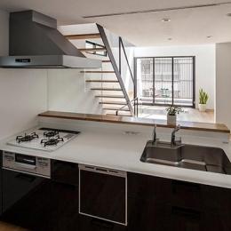 白糸台の家 (キッチン(撮影:平井広行))