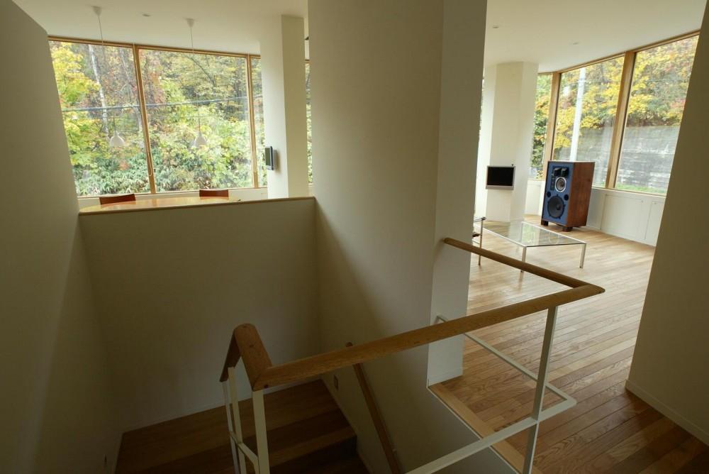 円山西町の家 (2階廊下)
