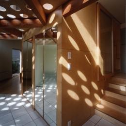 石神井の住宅 古稀庵 (エントランス)