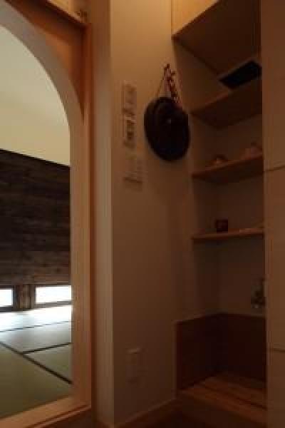 水屋 (新琴似K邸―庇のある家―)