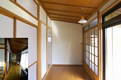 高崎S邸・高気密高断熱化・暖かく生まれ変わった家 (玄関)