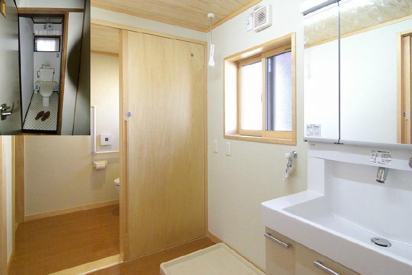 高崎S邸・高気密高断熱化・暖かく生まれ変わった家の部屋 洗面・脱衣所・トイレ