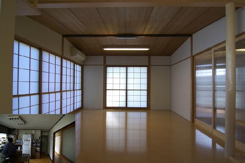 高崎S邸・高気密高断熱化・暖かく生まれ変わった家の部屋 リビング1