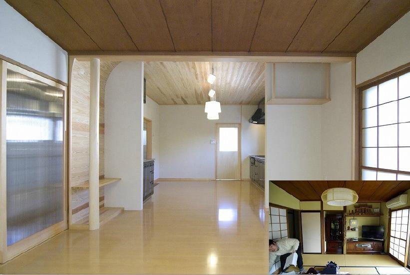 高崎S邸・高気密高断熱化・暖かく生まれ変わった家の部屋 リビング2