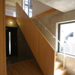 泉の家 (玄関と階段)