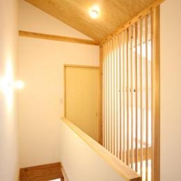 東通仲町の家 (2階廊下)