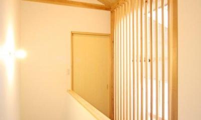2階廊下 東通仲町の家