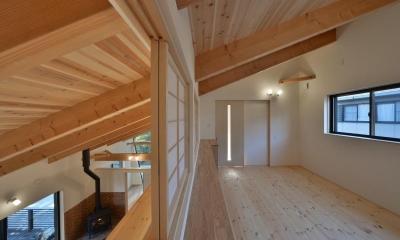 2階書斎|大羽根園の家