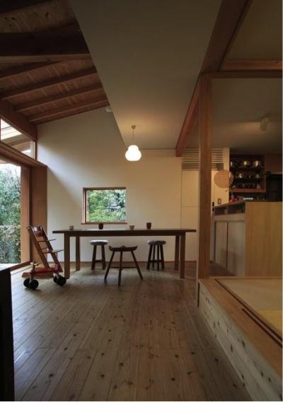 寒川の家 (リビング(撮影:上田明))