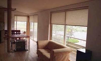 竜ヶ崎の家 (ストーブのあるリビング1)