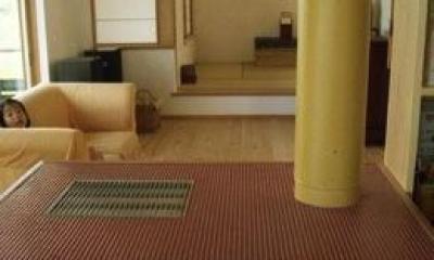 竜ヶ崎の家 (ストーブのあるリビング2)