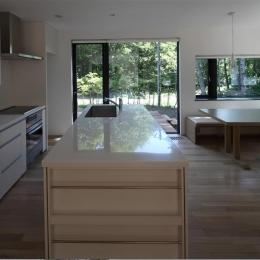 大沼 森の家 (対面式キッチン(撮影:Adachi Osamu))