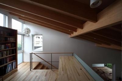 2階ワークスペース-1(撮影:Adachi Osamu) (真駒内土間のある家)
