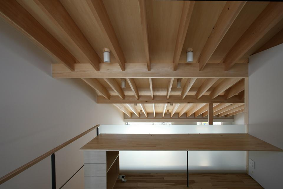 真駒内土間のある家の部屋 2階ワークスペース-2(撮影:Adachi Osamu)
