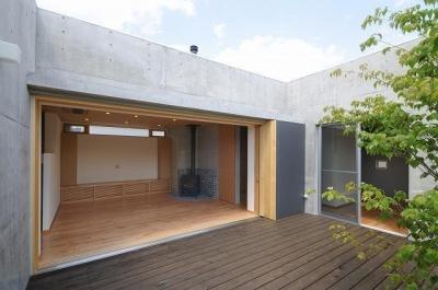 岡谷の家 (リビング)