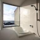 海が見える浴室