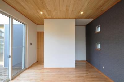 岡谷の家 (寝室)