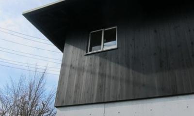 I-house・RC+木造の大屋根の家 (外観1)