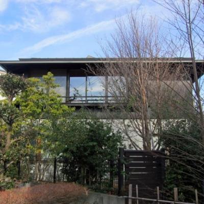 I-house・RC+木造の大屋根の家 (外観2)