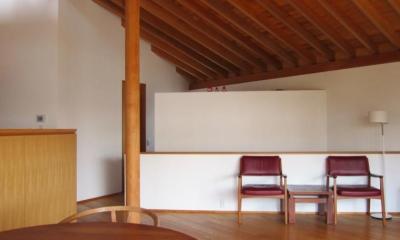 I-house・RC+木造の大屋根の家 (LDK-1)