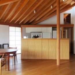 I-house・RC+木造の大屋根の家 (LDK-2)