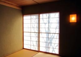 I-house・RC+木造の大屋根の家 (和室)