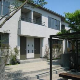 Apartment-Fu・路地状敷地の長屋建て集合住宅 (集合住宅外観1)