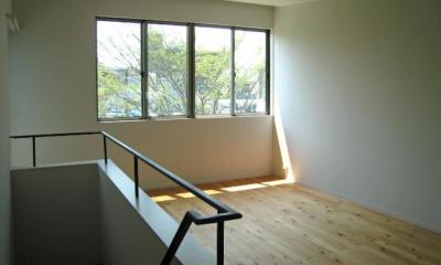 Apartment-Fu・路地状敷地の長屋建て集合住宅 (リビング)