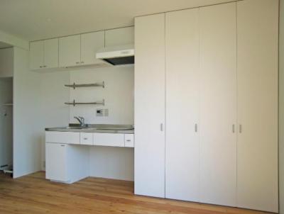 Apartment-Fu・路地状敷地の長屋建て集合住宅 (キッチン)