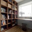 壁面造作棚・造作デスクの書斎
