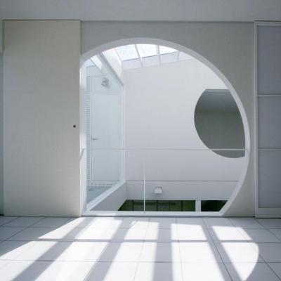 トップライトの家 (カーブが印象的な開口部)