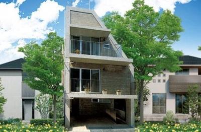 中根S邸新築工事・トップライトのある家 (外観)