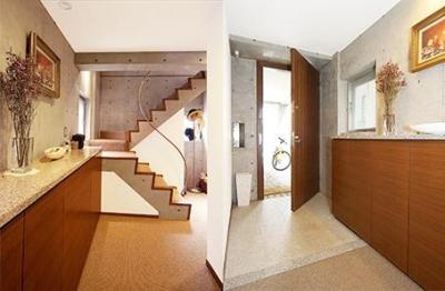 中根S邸新築工事・トップライトのある家 (明るい玄関)