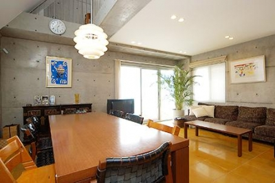 中根S邸新築工事・トップライトのある家 (リビングダイニング2)