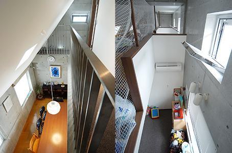 中根S邸新築工事・トップライトのある家の部屋 3階スペース