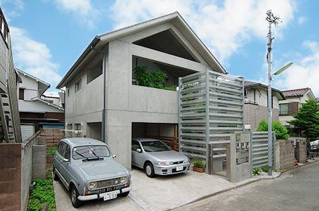 世田谷U邸新築工事・コンクリート打ち放しの家の部屋 コンクリート打ち放しの外観